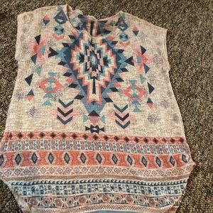 Ladies western design sweater